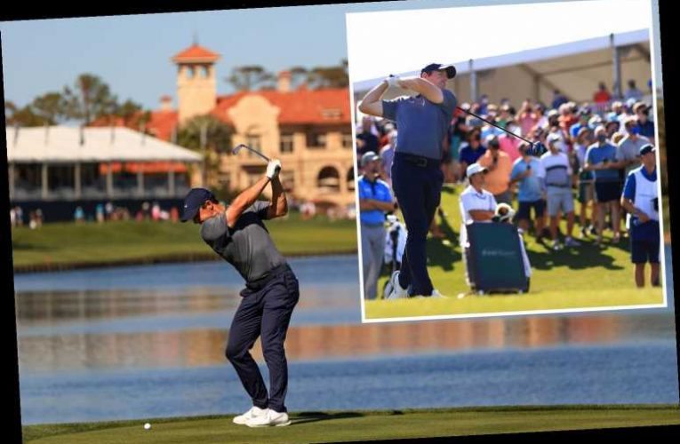 Watch Rory McIlroy find the water TWICE as quadruple bogey kills off Players Championship defence on day one at Sawgrass
