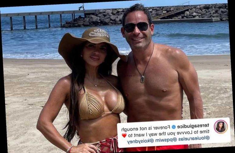 RHONJ's Teresa Giudice flaunts new boobs in bikini with boyfriend Luis Ruelas after getting plastic surgery