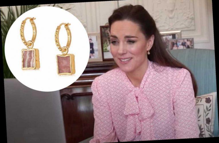 Kate Middleton wears healing crystal earrings after Meghan Markle's Oprah chat