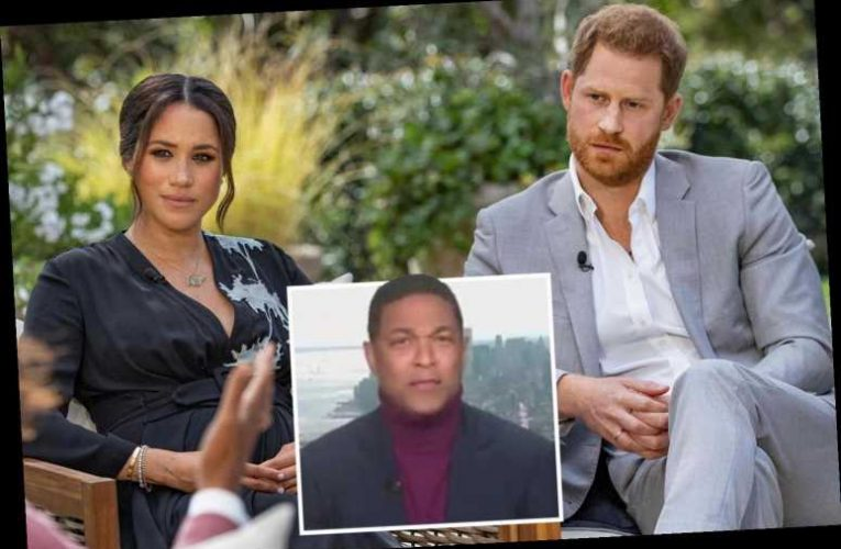 CNN's Don Lemon shockingly says royals 'didn't stand up for their own' because Harry was 'married to a black woman'