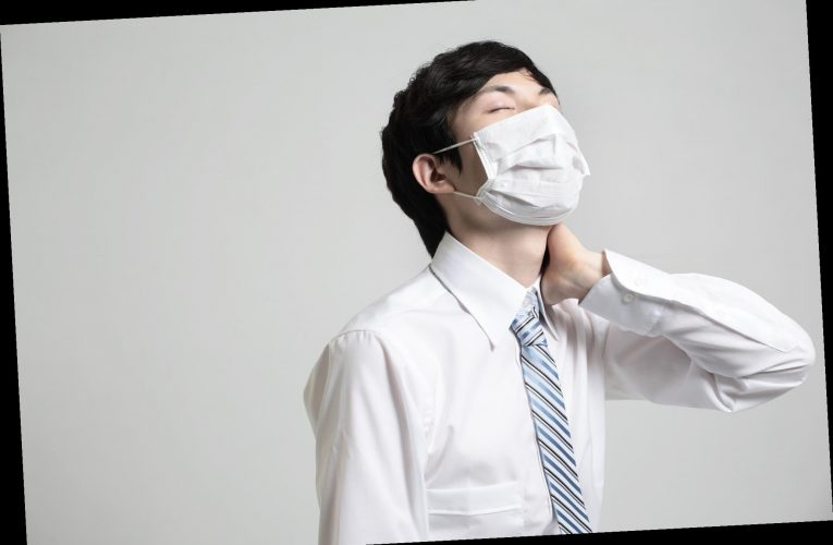 Wearing your mask wrong can cause neck pain