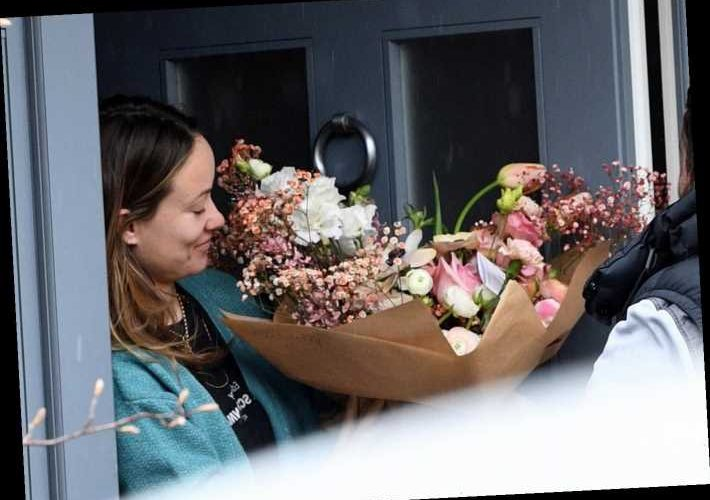 Olivia Wilde gets huge floral bouquet and chocolates on her birthday