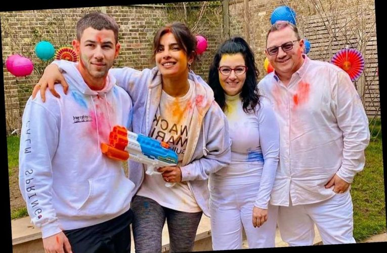 Priyanka Chopra and Nick Jonas celebrate Holi with his parents in London