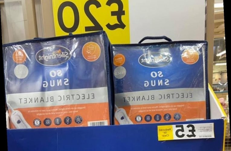 Tesco has slashed the price of Silentnight electric blankets worth £30 to £5