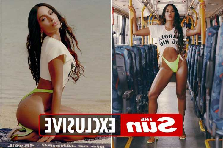 Anitta stuns in skimpy neon two piece as she releases her debut single Girl From Rio