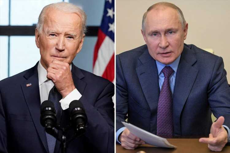 Biden's sanctions on Russia 'could spark invasion of Ukraine' after Putin threatens to 'destroy' Kiev