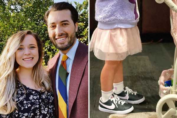 Counting On fans slams Jeremy Vuolo for 'trying too hard' as he calls daughter Felicity, 2, a 'mood' in rare photo