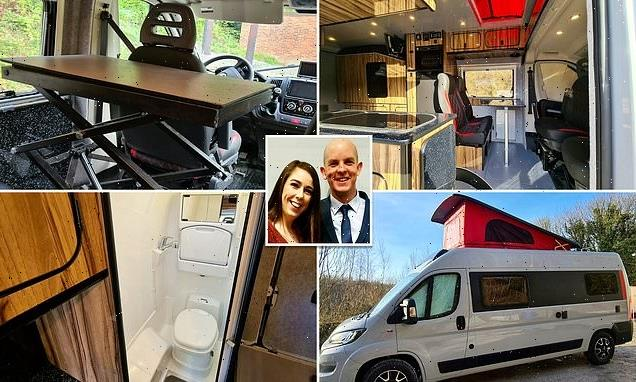 Couple build world's first camper van which has its own LIFT