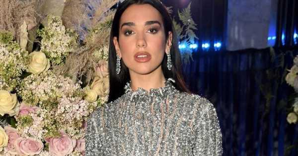 Dua Lipa teases assets in silver sheer gown at Elton John's Oscars bash