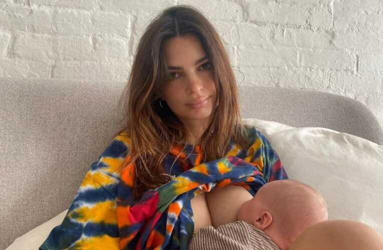 Emily Ratajkowski says she's 'always breastfeeding'