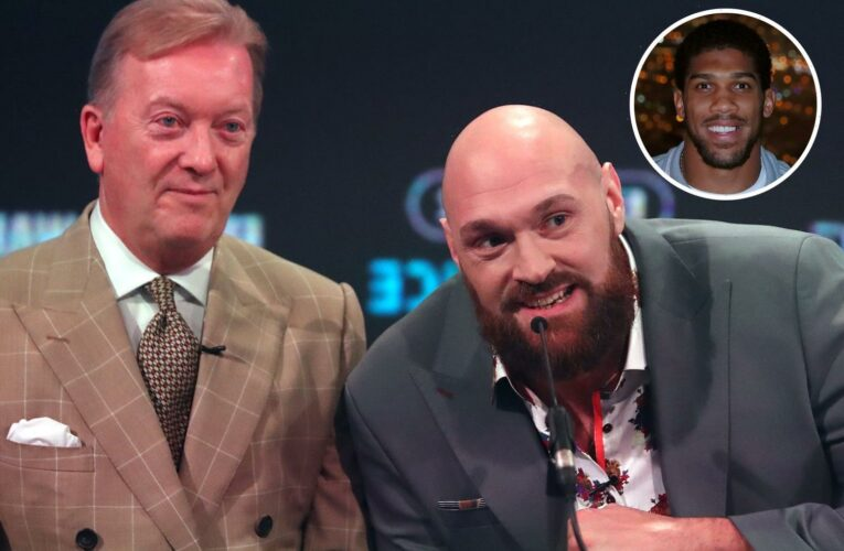 Frank Warren throws Anthony Joshua and Tyson Fury's £108m Saudi fight in doubt and says site offer yet to arrive