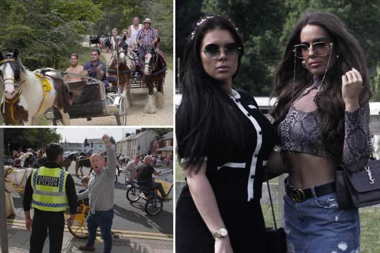 Here Come the Gypsies: Inside England's biggest 'horse drive' where stampedes risk deadly disaster