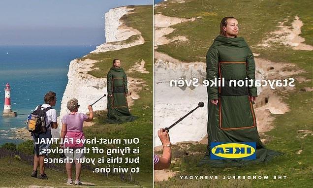 Ikea deletes advert showing man posing on the edge of Beachy Head