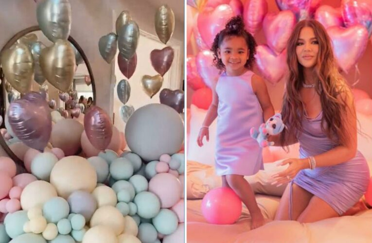 Khloe Kardashian slammed for using hundreds of balloons 'harmful' to the planet at daughter True's 3rd birthday party