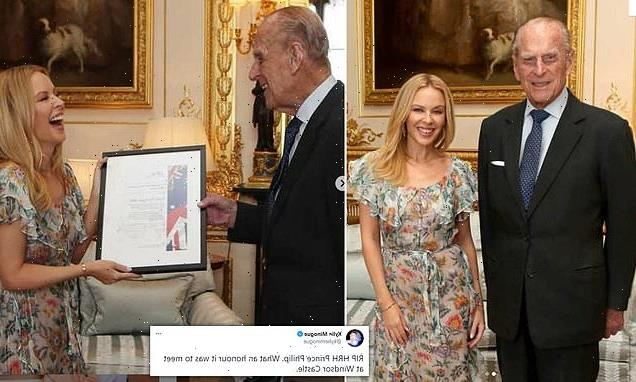 Kylie Minogue leads stars paying tribute to Prince Philip