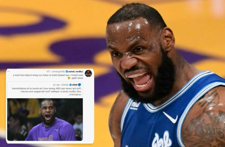 LeBron James mocks bar owner who called him out over controversial Ma'Khia Bryant tweet