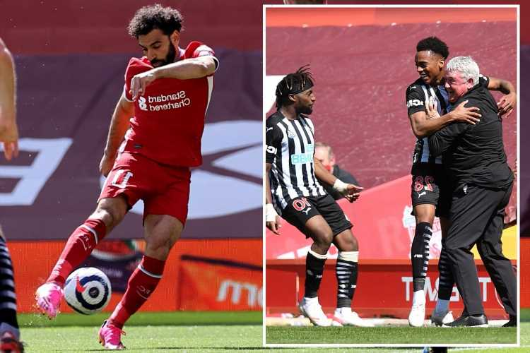 Liverpool 1 Newcastle 1: On-loan Arsenal star Joe Willock scores last-gasp equaliser to earn draw against wasteful Reds