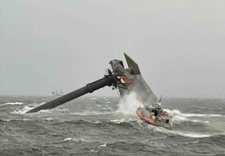 Louisiana capsizing – Coast Guard launch search for 12 people lost at sea as 129ft ship flips in 'microburst' storm