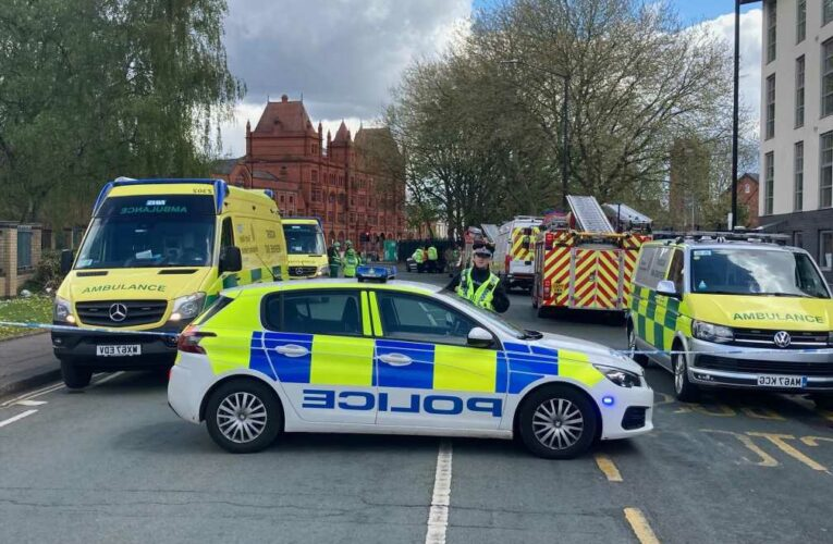Manchester bomb squad evacuate homes after finding 'suspicious items' as man in his 20s arrested