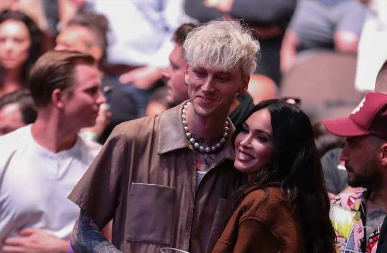 Megan Fox Wore Nothing But a Bra Under a Jacket On a Date Night With Machine Gun Kelly