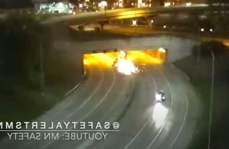 Minneapolis fiery crash kills at least 1, authorities say