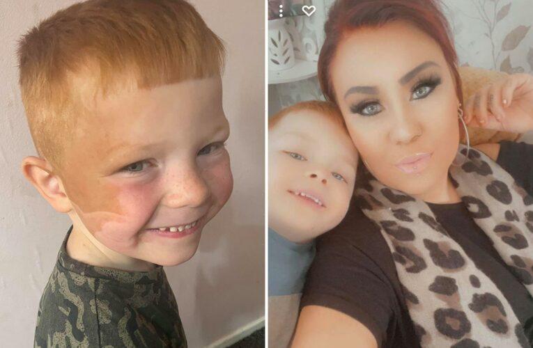 Mum accidentally turns her son orange in awkward fake tan blunder – after falling asleep cuddling him