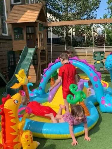 Mum-of-22 Sue Radford shows off incredible water park built for her kids during lockdown