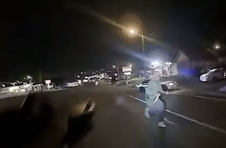 Nashville police release bodycam video of officer shooting man with 2 butcher knives during traffic stop