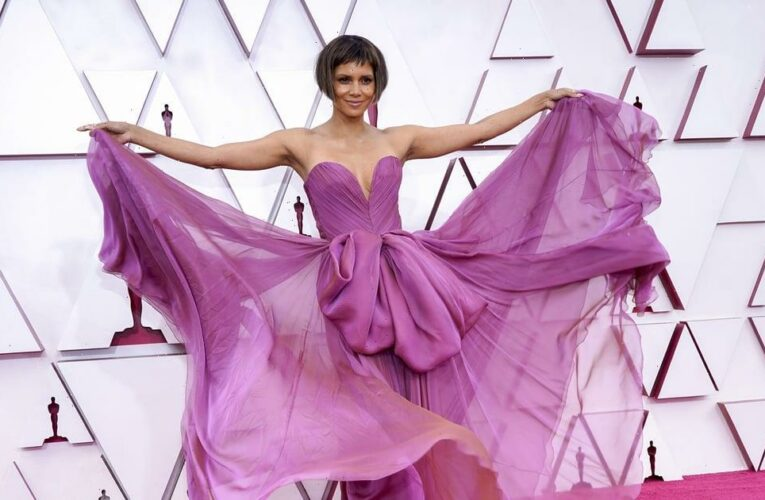 Oh, Yes, She Did: Halle Berry Debuted a Dramatic Microbob Haircut at the Oscars