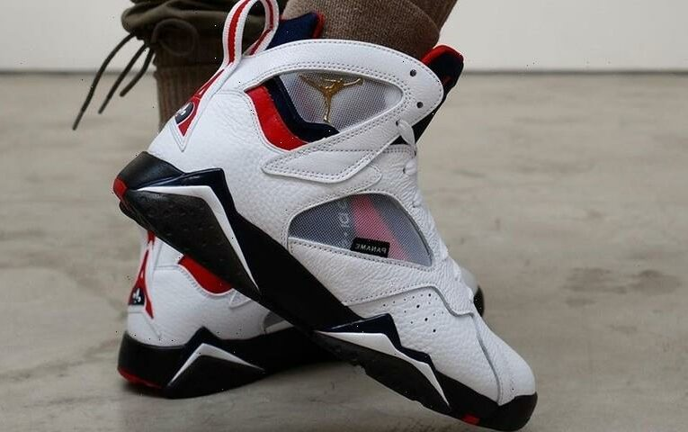On-Foot Look at Paris Saint-Germain's Air Jordan 7 Collaboration
