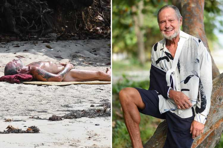 Paul Gascoigne is forced to quit Italian I'm A Celeb with a shoulder injury after 38 wild days of naked sunbathing