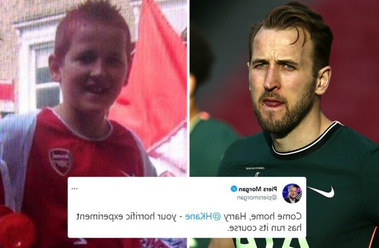 Piers Morgan begs Harry Kane to 'come home' to Arsenal and says Tottenham ace's 'horrific experiment has run its course'