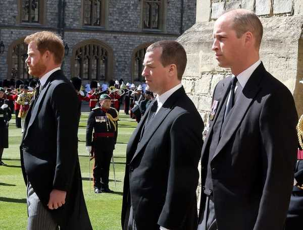 Prince William Reportedly Requested Not to Walk Beside Prince Harry at Prince Philip's Funeral