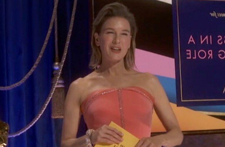 Renée Zellweger Is Pretty in Pink at 2021 Oscars