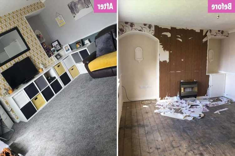 Single mum-of-five spends three years overhauling her family home on a budget and the results speak for themselves