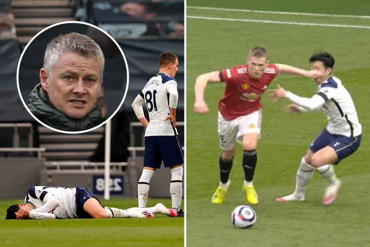 Solskjaer says 'game has gone' after disallowed Man Utd goal as raging boss slams Spurs star Son for 'conning' referee
