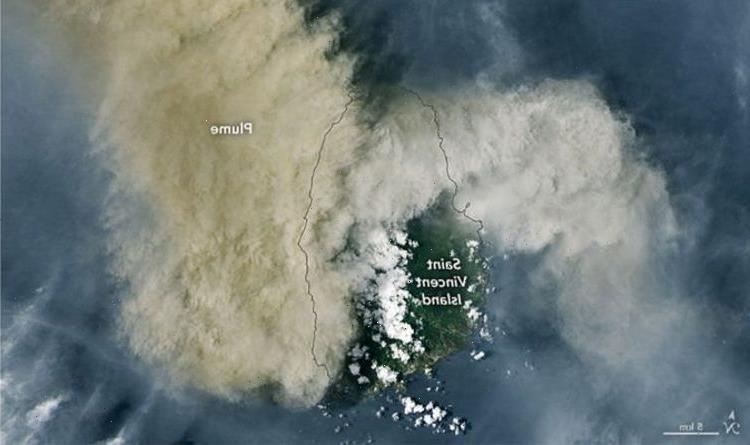 St Vincent volcano eruption: NASA satellite pics reveal monstrous ash plume over Caribbean