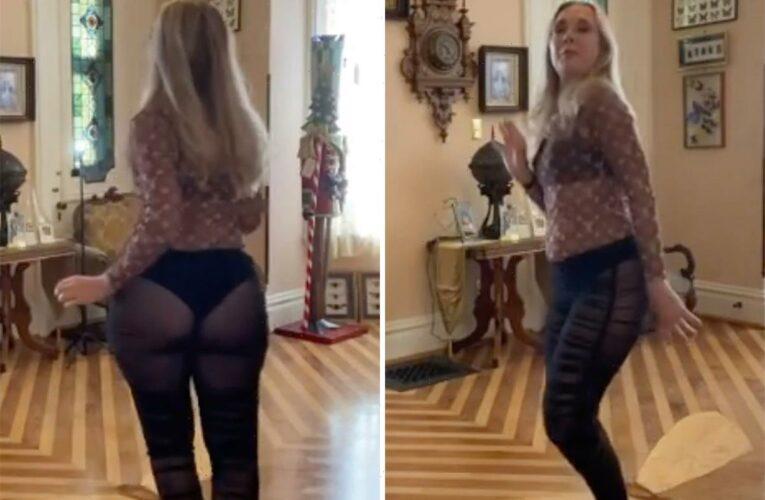 Teen Mom Farrah Abraham's mother Debra, 61, dances in see-through pants as she reveals her upcoming rap album release