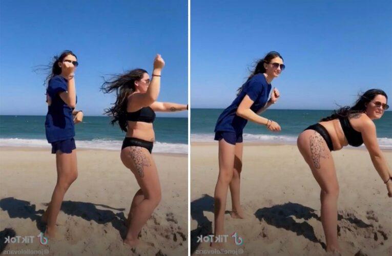 Teen Mom Jenelle Evans twerks & shakes in little black bikini for TikTok video with stepdaughter Maryssa, 13