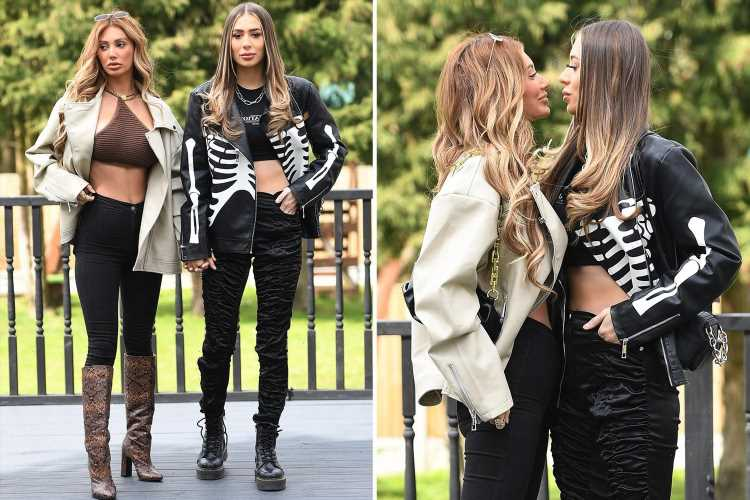 Towie's Demi Sims and Francesca Farago share a final tense kiss just hours before they split up