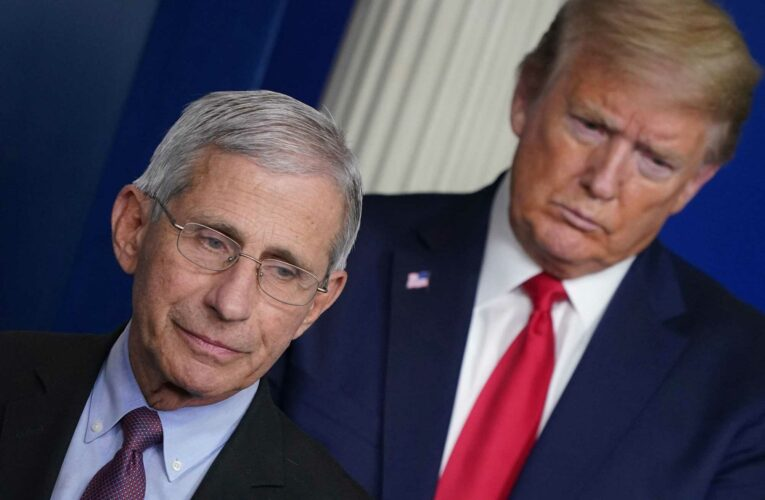 Trump brands Fauci 'full of crap' in off script speech at Mar-a-Lago and says Covid jab should be called 'Trumpcine'
