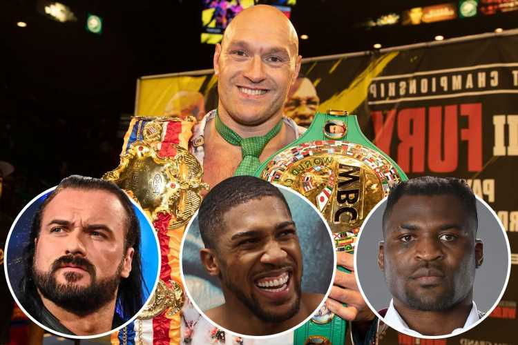 Tyson Fury calls out heavyweights from different sports for fights including Joshua, UFC's Ngannou and WWE's McIntyre