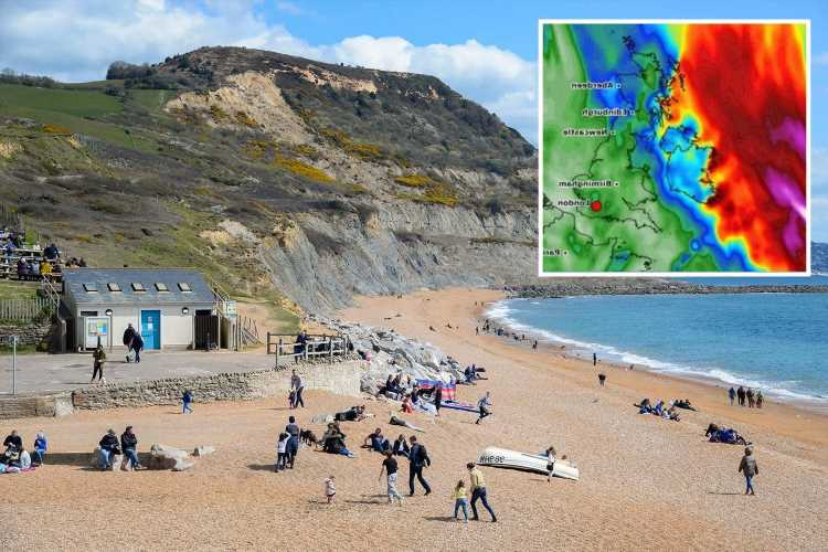 UK weather forecast – Charts show Britain is set to bake as map turns RED following 18C sunshine