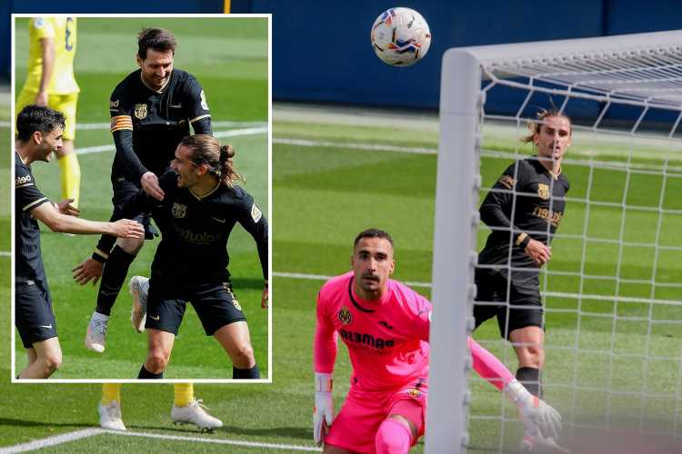 Villarreal 1 Barcelona 2: Griezmann double puts visitors within two points of leaders Atletico after Real Madrid slip up