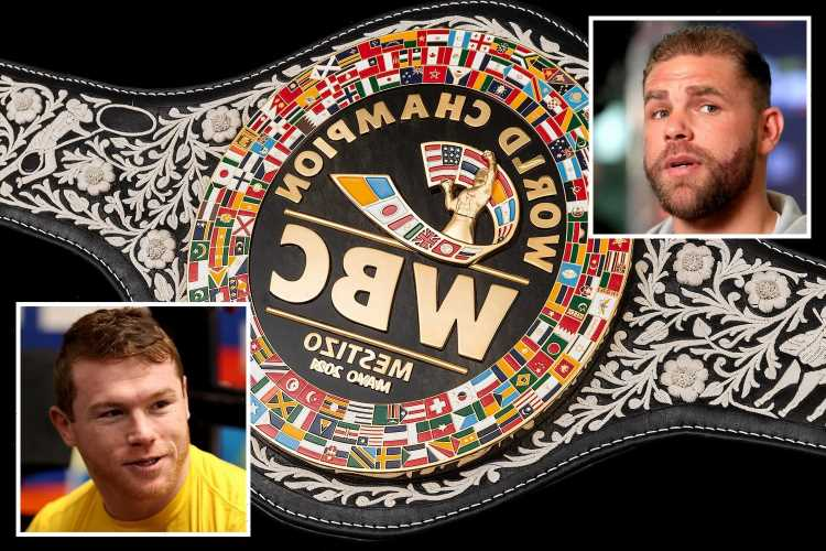 WBC unveil new Mexican-inspired Mestizo belt which Canelo Alvarez and Billy Joe Saunders will fight over