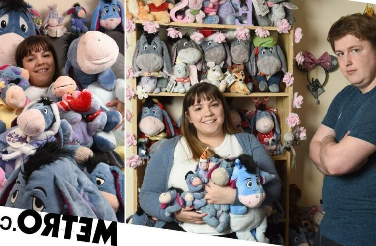 Woman 'addicted' to Eeyore has a collection of 127 cuddly donkeys