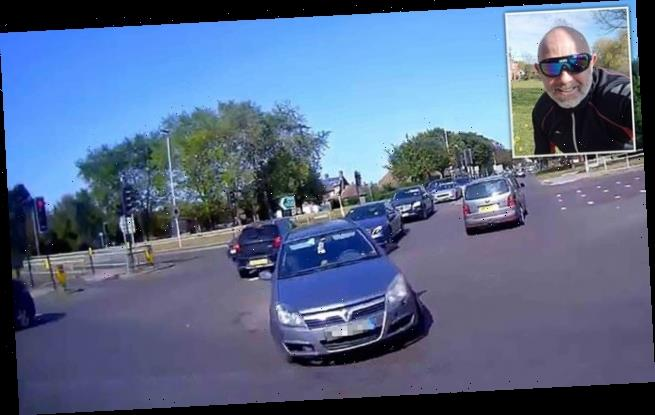 Driver mows down cyclist before asking 'where did you come from?'