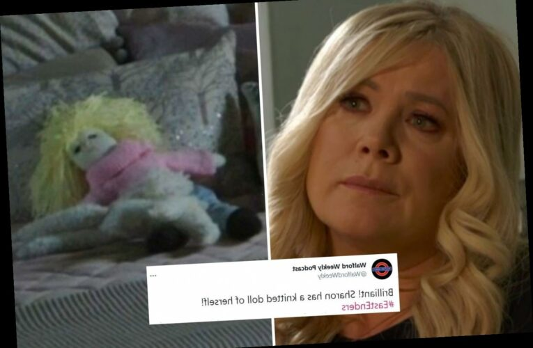 EastEnders fans in stitches after spotting Sharon Mitchell 'lookalike' in background of robbery scene