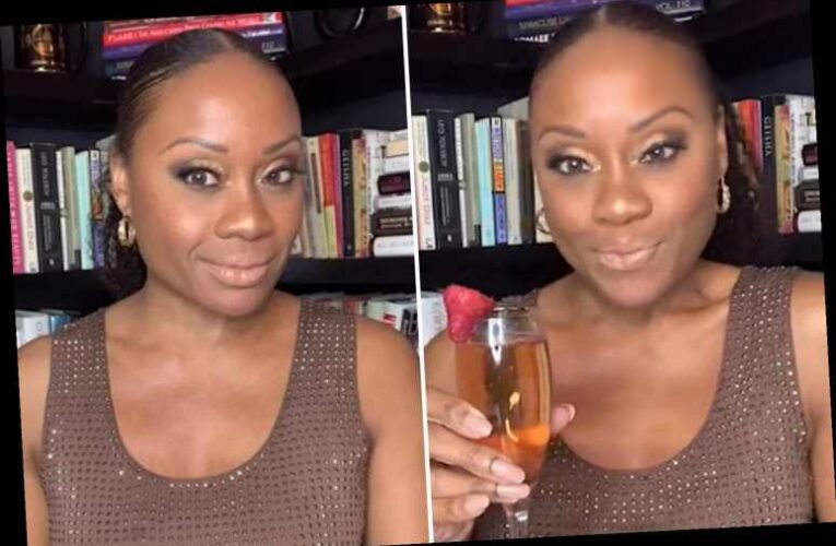 Midwin Charles seen smiling and drinking champagne in final footage before CNN analyst died at 47