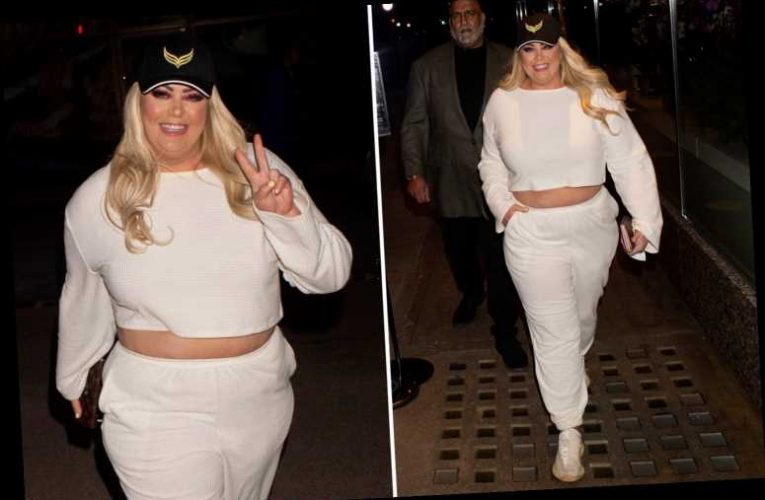 Gemma Collins reveals shrinking tummy amid 3st weight loss as she goes shopping at Selfridges in London